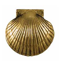 Bay Scallop Door Knocker in Polished Brass, Michael Healy MHS31