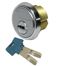 High Security 1-1/8 Inch Mortise Cylinder, Mul-T-Lock 206SP-MOR1C01