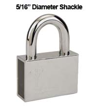 Mul-T-Lock #8 C-Series Security Padlock with 5/16 Diameter Shackle
