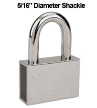 Mul-T-Lock Security Padlock with 5/16 Diameter Shackle, 2 Inch Clearance