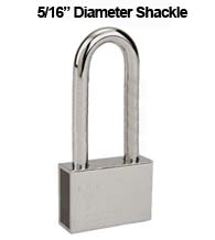 Mul-T-Lock Security Padlock with 5/16 Diameter Shackle, 4 Inch Clearance