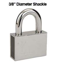 Mul-T-Lock Security Padlock with 3/8 Diameter Shackle