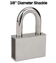 Mul-T-Lock Security Padlock with 3/8 Diameter Shackle, 2-1/2 Inch Clearance
