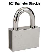 Mul-T-Lock Security Padlock with 1/2 Diameter Shackle