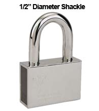 Mul-T-Lock Security Padlock with 1/2 Diameter Shackle, 2-1/4 Inch Clearance