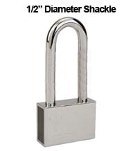 Mul-T-Lock Security Padlock with 1/2 Diameter Shackle, 4 Inch Clearance