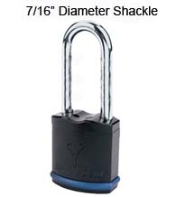 Heavy Duty Padlock with 7/16 Diameter Shackle, Extra Long 4 Inch Clearance