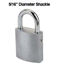 Medium Duty Brass Padlock With 5/16 Shackle, Mul-T-Lock G47G1