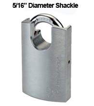 5/16 Diameter Protected Shackle Padlock, Mul-T-Lock G47P