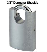 3/8 Diameter Protected Shackle Padlock, Mul-T-Lock G55P