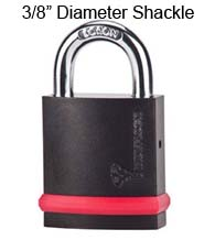 3/8 Inch Diameter Shackle Security Padlock, Mul-T-Lock NE10LE1