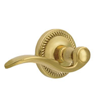 Bellagio Wave Lever With Newport Rosette, Grandeur NEWBEL