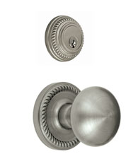 Newport Single Cylinder Combo With Fifth Avenue Knob, Grandeur NEWFAVCOM