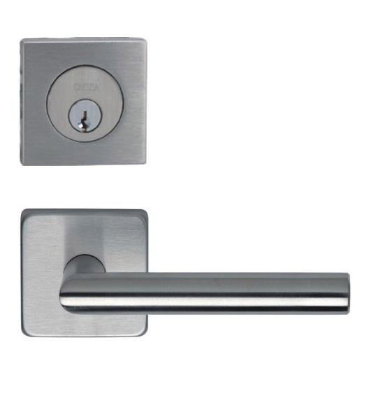 Omnia #12S Square Entry Lever Lock Set