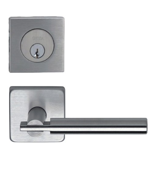 Contemporary Square Entry Lever Lock Set