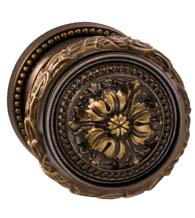 Floral Knob with Beaded Rose, Omnia 260/00