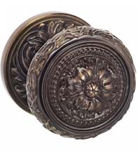 Floral Half-Round Knob with Matching Rose, Omnia 260FL