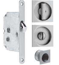 Square Privacy Sliding Pocket Door Lock Set, Omnia 3911-US32D