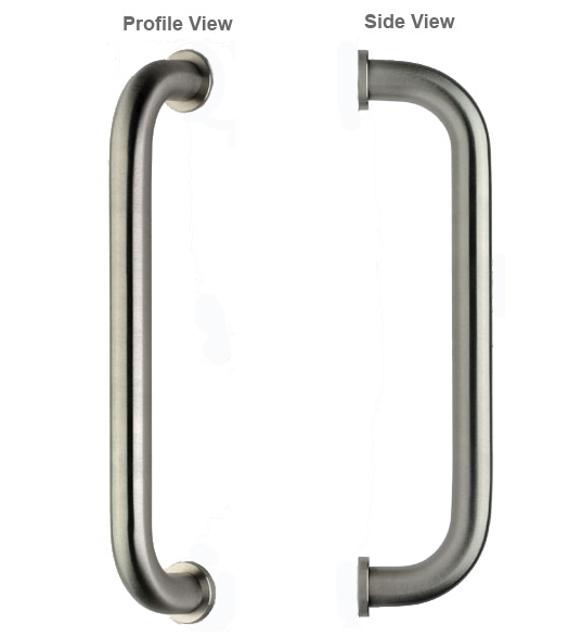 Omnia 12 Stainless Steel Door Pull