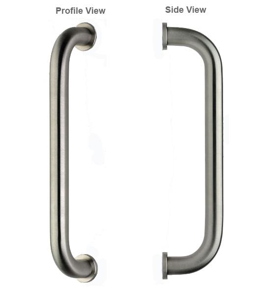 12 Inch Stainless Steel Door Pull Omnia 4010/400-US32D  sc 1 st  Doorware.com & 12 Inch Stainless Steel Door Pull Omnia 4010/400-US32D - Doorware.com