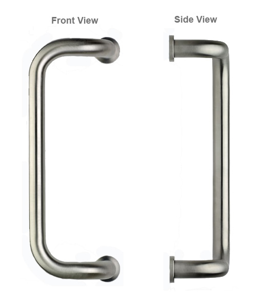 Stainless Steel 12 Offset Door Pull