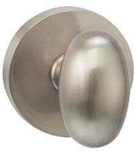 Egg Knob With Modern Round Rose, Omnia 434MD