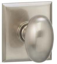 Egg Knob With Rectangular Rose, Omnia 434RT