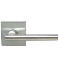 Sleek Stainless Steel Door Lever with Square Rose, Omnia #43S