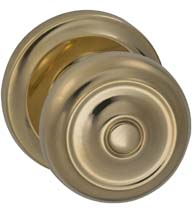Traditional Button Door Knob, Omnia 473/00
