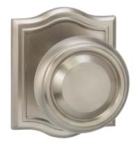Beveled Half Round Knob With Matching Rosette, Omnia 565AR