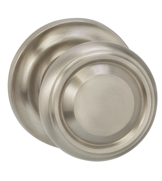 Beveled Edged Knob With Stepped Rose