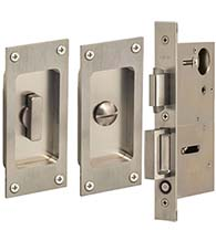 Satin Stainless Steel 5 Inch Privacy Set, Omnia 7012/L