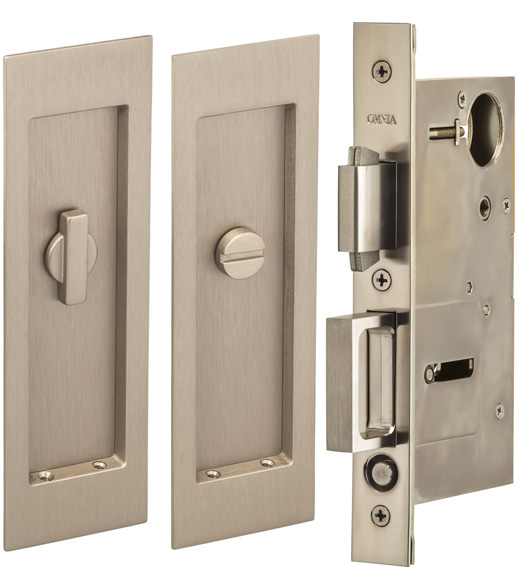 7 Inch Privacy Mortise Pocket Door Hardware