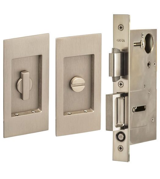 4-1/2 Inch Privacy Mortise Pocket Door Set
