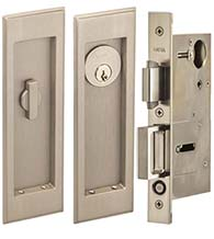 Traditional Pocket Door Keyed Entry Set, Omnia 7037/A