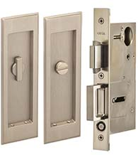 Traditional Pocket Door Privacy Set, Omnia 7037/L