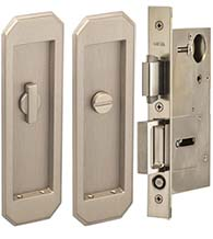 Arched 7 Inch Pocket Door Privacy Set, Omnia 7039/L