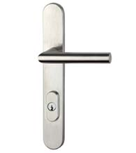 Rounded American Cylinder Patio Door Trim Set, Omnia 73000ACB