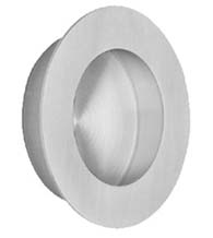 Large Round Brushed Stainless Steel Flush Pull, Omnia 7500/65