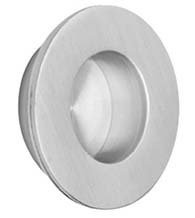 Medium Round Brushed Stainless Steel Flush Pull, Omnia 7501/51