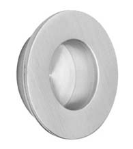 Small Round Brushed Stainless Steel Flush Pull, Omnia 7502/35