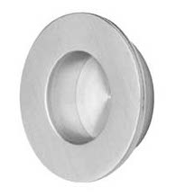 1-3/8 Round Brushed Stainless Steel Flush Pull, Omnia 7502/35