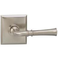 Fluted Lever With Rectangular Rose, Omnia 785RT