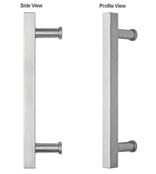 Stainless steel Modern Square Door Pull