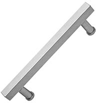 23 Inch Stainless Steel Modern Square Door Handle, Omnia 8190/400-US32D