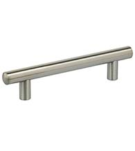 14 mm Diameter Slim Line Round Brushed Stainless Steel Cabinet Pull, Omnia 9465