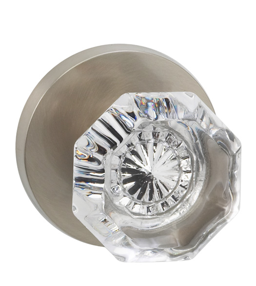 Classic Glass Knob With Round Rose