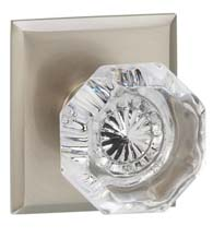 Rectangular Rose with Clear Glass Knob, Omnia 955RT