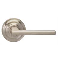 Contemporary Lever with Traditional Round Rose, Omnia 925TD