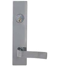 Retro Chrome Lever Entry Lockset, Omnia D12362